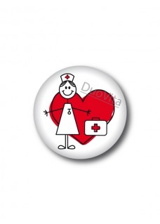Badge Stick Nurse Heart