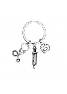 Porte-clés Symboles d'Instruments Médicaux