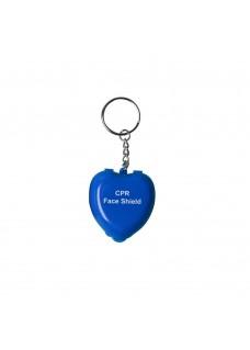 CPR Masque Porte-clés Cœur Bleu