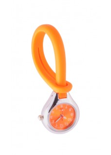 Montre Pendante en Silicone Orange