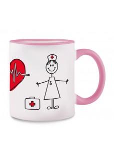 Tasse Stick Nurse Rose