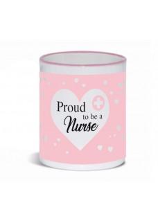 Tasse Proud to be a Nurse 3 Rose
