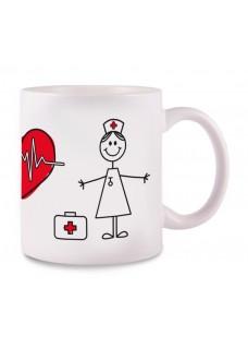 Tasse Stick Nurse Blanc