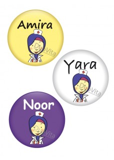 Badge Pins Infirmière Voilée