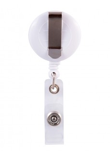 Porte Badge Enrouleur Infirmière Violet avec Nom Imprimé