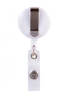 Porte Badge Enrouleur ECG Rose avec Nom Imprimé