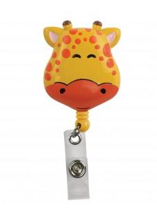 Porte Badge Enrouleur Girafe