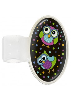 Badge Stéthoscope Owl Black Party