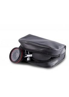 Tensiomètre Tube Double One-Handed avec Etui Noir Rouge