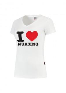 T-Shirt Femme I love Nursing Blanc
