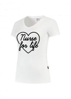T-Shirt Femme Nurse For Life Blanc