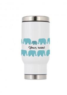Mug Isotherme Thermique Éléphants