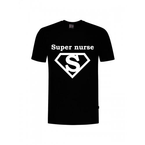 T-Shirt Super Nurse 1 Noir