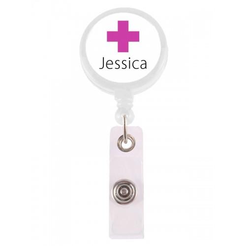 Porte Badge Enrouleur Cross avec Nom Imprimé