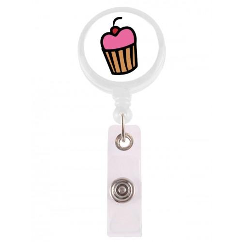 Porte Badge Enrouleur Cupcake