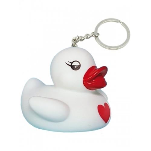Nurse Rubber Duck Keychain Blanc