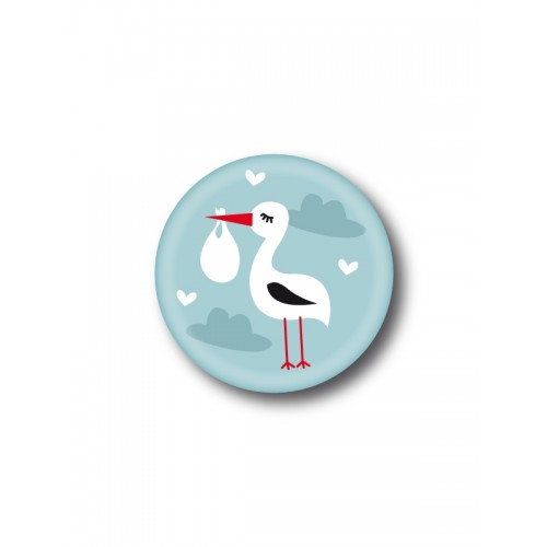 Badge Cigogne Baby