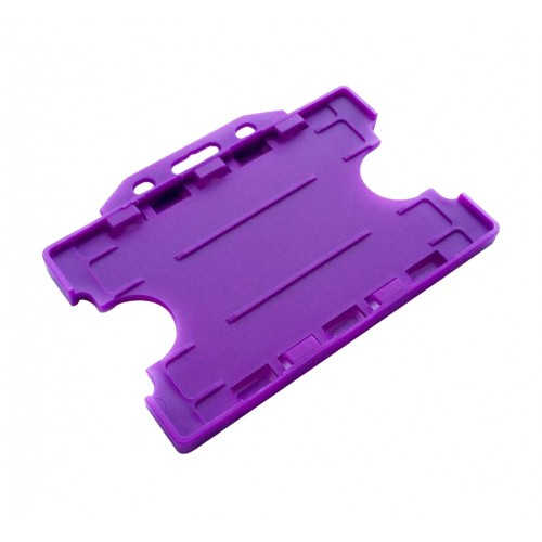 Porte-Badge Recto-Verso Violet