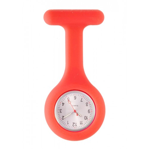 Montre Infirmière Standard Silicone Rouge