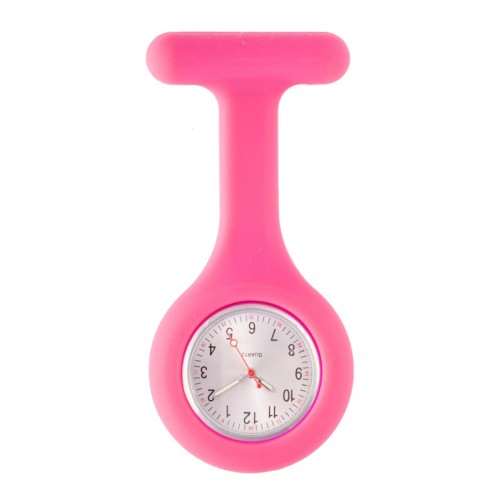 Montre Infirmière Standard Silicone Fuchsia
