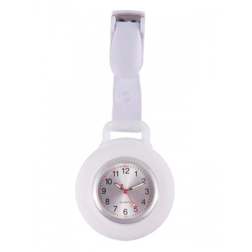 Montre Infirmière Clip Silicone Blanc