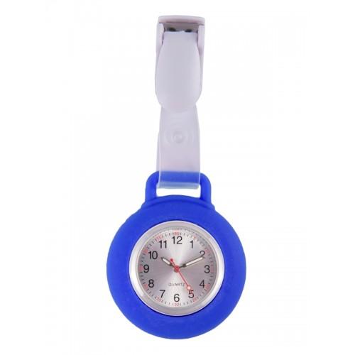 Montre Infirmière Clip Silicone Bleu Roi