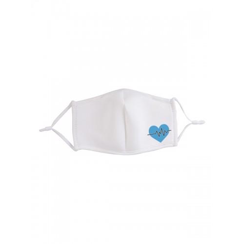 Masque en Tissu Coeur Bleu