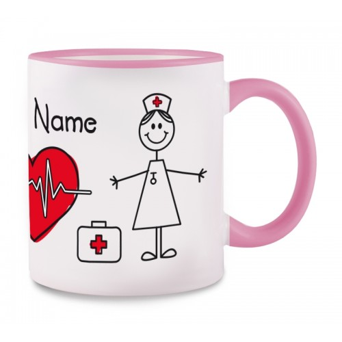 Tasse Stick Nurse Rose