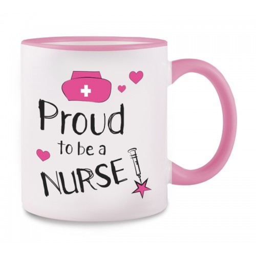 Tasse Proud to be a Nurse 2 Rose