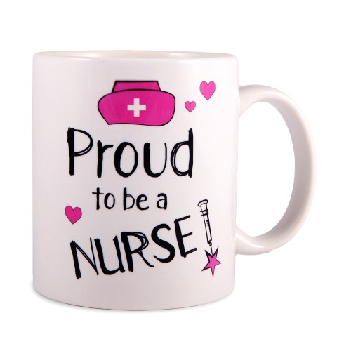 Tasse Proud to be a Nurse 2 Blanc