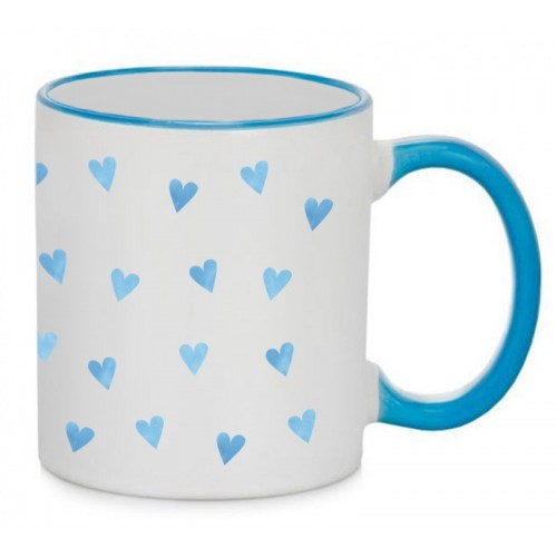 Tasse Coeurs Bleus Bleu