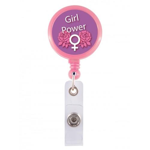 Porte Badge Enrouleur Girl Power