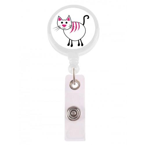 Porte Badge Enrouleur Chat