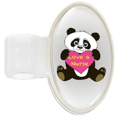 Badge Stéthoscope Panda