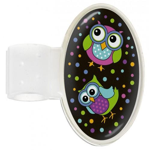 Badge Stéthoscope Owl Black Party