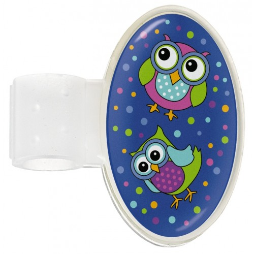 Badge Stéthoscope Owl Blue Party