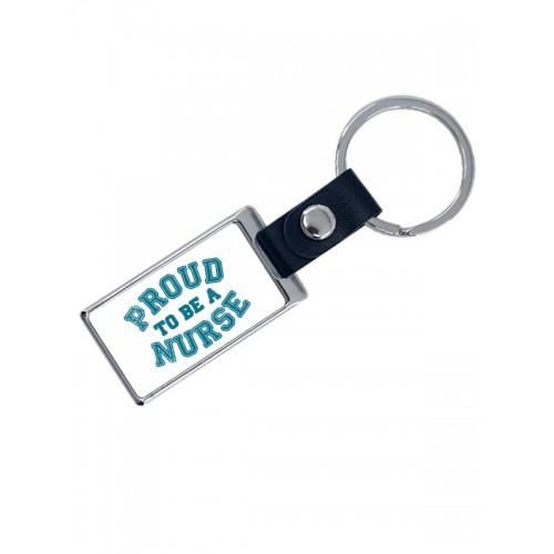 Porte-Clés de Luxe Proud Nurse avec Nom Imprimé