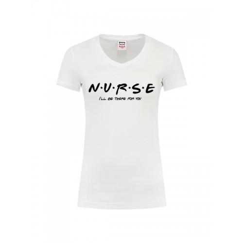 T-Shirt Femme Nurse For You Blanc