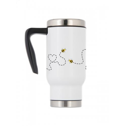 Mug Isotherme Thermique Abeilles